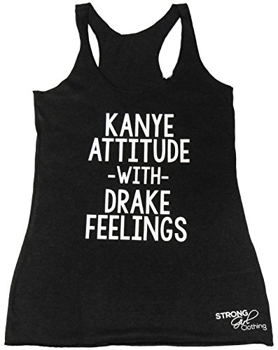 SGC Kanye Attitude With Drake Feelings Women's Eco Tank Top (SMALL, HEATHER - Style Drake Rap