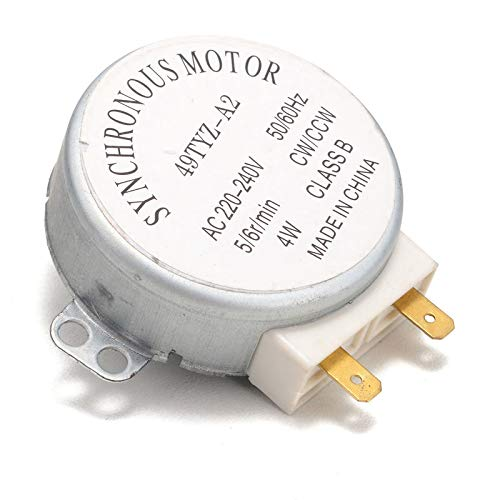 Microwave Oven Synchronous Motor 5//6RPM AC 220-240V 50//60Hz CW//CCW w Cable LW