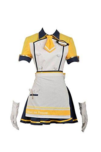 - Love Live Rin Jacket Skirt Ice Cream Unawakened Cosplay Costume with Hat