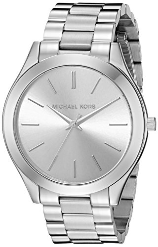 Michael Kors Women's Runway Silver-Tone Watch (Michael Kors Man Watch)