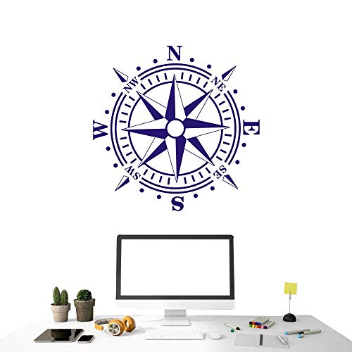 Removable Nautical Compass Sticker Children
