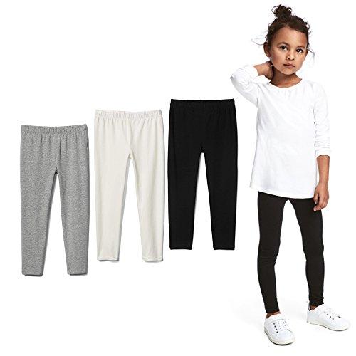 Bear Mall Toddler Girls Leggings Black Leggings Baby Girls Cotton Leggings 2-Pack / 3-Pack