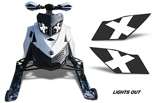 (AMR Racing Sled Headlight Eye Graphic Decal Cover for Ski Doo Rev XP Summit - Lights Out )