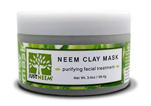 French Clay Face Mask - Neem - Best for Acne, Oily Skin, Blackheads, All Skin Types - Soothing, Purifying & Hydrating - Natural - 3.4 oz