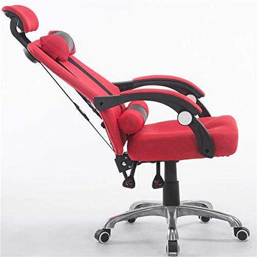 Chennong デスクコンフォートアンカーシート 背もたれオフィススタッフ回転怠惰なシンプルなアセンブリ回転椅子 レジャー会社のラウンジチェア (Color : Red)  Red B07Q29YBH1