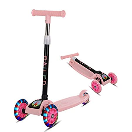 Gugio Foldable Kick Scooter for Kids 3 Wheel Scooter for Toddlers Girls /& Boys Great Gift for Children from 3 to 14 Years Old 4 Adjustable Height