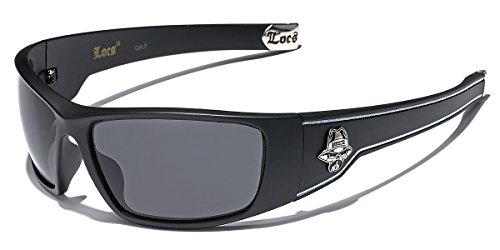 Locs Original Gangsta Shades Hardcore Men's Sport Sunglasses - Matte Black -