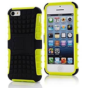 JJE2 in 1 TPU PC Combo Armor Dual Layer Case Cover with Stand for iPhone5C , 4