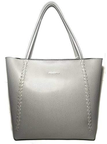 Etienne Aingner Grey Stella Durable Leather Tote Handbag (Etienne Black Handbags Aigner)