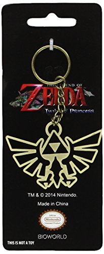 BLACK Zelda Enamelled Keychain NEW Nintendo Licenced