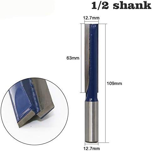 "NO LOGO ZZB-ZT, 1pc 1/2"" 12mm Schaft Lange Stragiht Bottom Reinigungs Holz Fräser CNC-Holzbearbeitung reinigen Fräser Fräswerkzeuge (Size : As Show)"