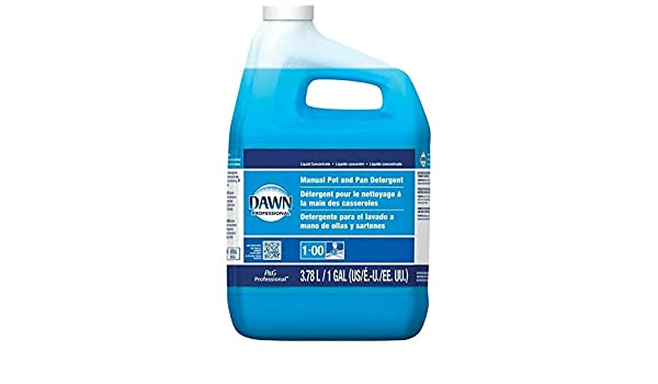 Amazon.com: Dawn Professional Pot and Pan Detergent, Regular Scent, 1 Gallon (Case of 1): Kitchen & Dining