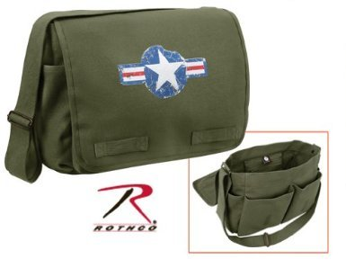 Rothco Hw Classic Messenger Bag - Air Corps, Olive Drab ()