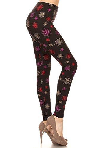 - 41uE3ixiruL - Leggings Depot Women's Ultra Soft Printed Fashion Leggings BAT18
