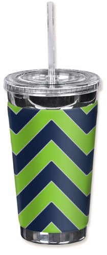 - Mugzie brand To Go Tumbler with Insulated Wetsuit Cover - Seattle Football Colors Chevron