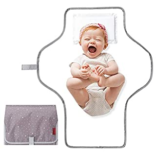 Baby Changing Pad for Moms and Dads travel, Portable Changing Pad,Diaper Changing Pad for Baby Waterproof and Lightweight/Gifts(Brown)
