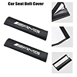 LONGSNOL 2pcs Car Seat Belt Cover for AMG, Carbon