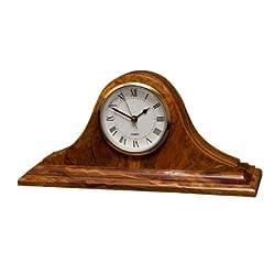 Designs by Marble Crafter Saturn Clock - Saffron Brown Onyx