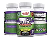 Premium Moringa Oleifera 800mg Pure Leaf Extract | Philippines Malunggay | Green Superfood Energy Pills | Aids in Weight Loss, Diet Moringa Capsules, Energy Booster & Mood Enhancer | 60 Count