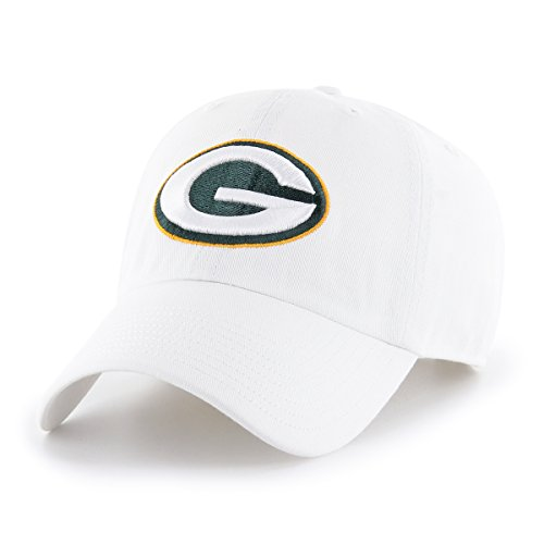 OTS NFL Green Bay Packers Male Challenger Adjustable Hat, White, One Size