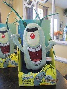 Nickelodeon Pompous Plankton Talking Plush - Sponge Bob Squarepants