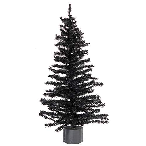 Factory Direct Craft 2 Foot Black Artificial Pine Tree for Christmas, Halloween and Year Round Décor ()