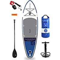 """Two Bare Feet Sport Air 10'0"""" / 10'6"""" / 10'10"""" / 12'6"""" / 4""""&6"""" Thick Inflatable Paddleboard SUP Starter Pack"""