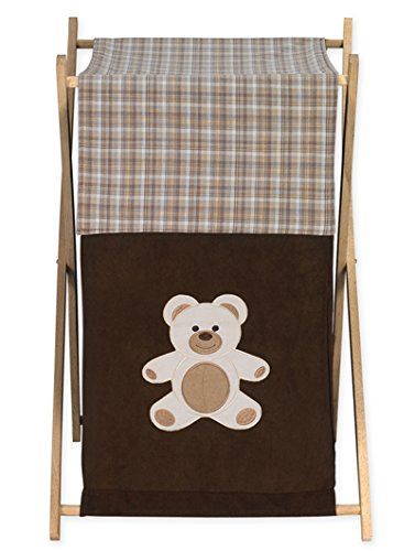 Sweet Jojo Designs Baby and Kids Clothes Laundry Hamper for for Chocolate Teddy Bear Bedding