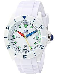 Quartz Plastic and Silicone Casual Watch, Color:White (Model: 40NINE02/FUN50)