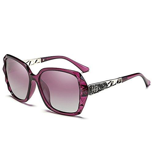 Gafas Violeta De Polarizantes para Frame Big Azul Xue Sol zhenghao Mujer Gafas PwpnzxE5q