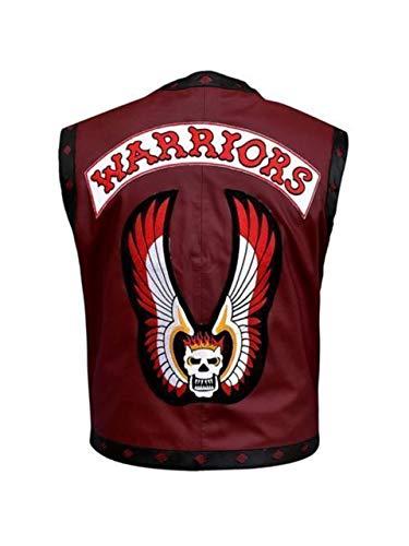 Men's Fashion Warrior Gangster Biker Leather Vest (S) Maroon