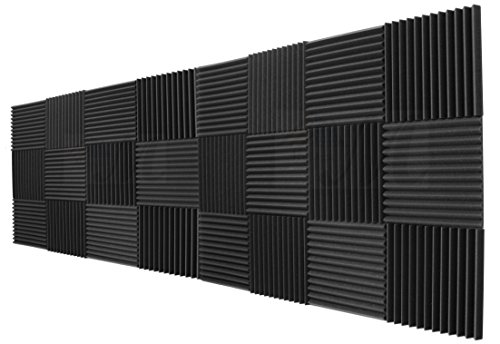 "24 Pack Acoustic Panels Studio Foam Wedges 1"" X 12"" X 12"""
