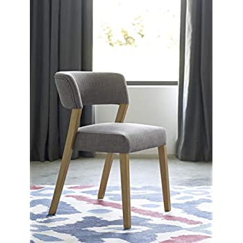 Amazon Com Tommy Hilfiger Waltham Dining Chair Set Of 2 Light Gray Chairs