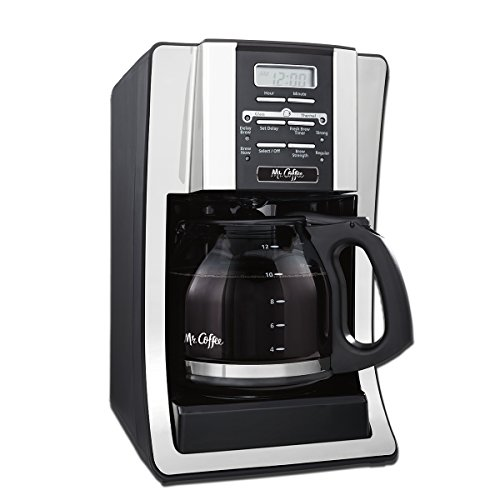 Mr. Coffee 12-Cup Programmable Coffee Maker, Bundle with 1 Month Water Filtration Delay Brew Coffee Maker