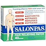 Salonpas Pain Relieving Patch 40 Patches [ 2.56 in x 1.65 in ] Made in Japan
