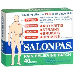 Salonpas Pain Relieving Patch 40 Patches [ 2.56 in x 1.65 in ] Made in Japan by Pain Relieving Patch