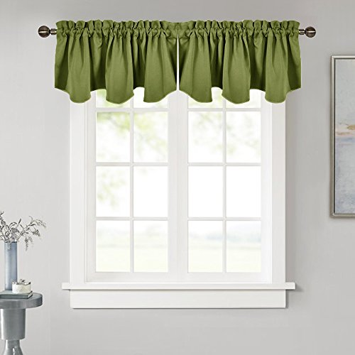 NICETOWN Window Treatment Blackout Valances - Blackout Tier