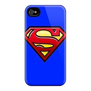 KaraPerron Iphone 4/4s Protector Cell-phone Hard Cover Provide Private Custom High-definition Superman Image [jqQ11580ThcP]