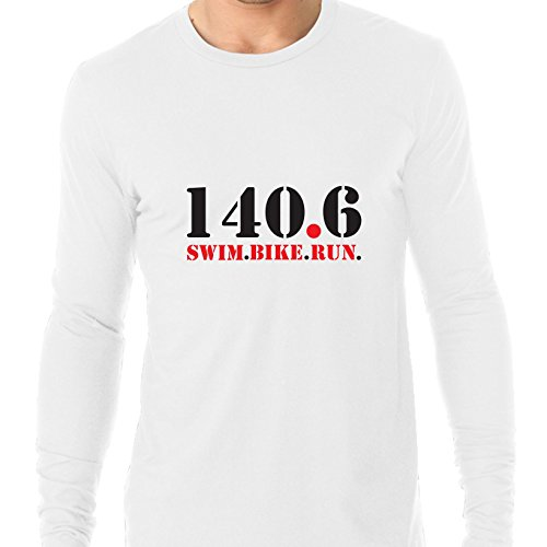 Hollywood Thread 140.6 Swim Bike Run Triathlon Ironman Men's Long Sleeve - Ironman Apparel Triathlon