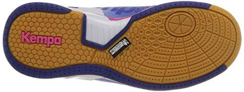 KempaAttack One - Zapatillas de Balonmano mujer azul - Bleu (Bleu Électric/Blanc/Rose)