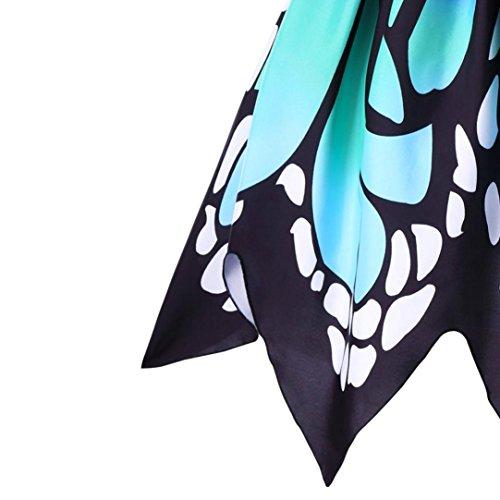 àbbigliamento donna, ASHOP Abiti / Abito Donna Autunno Abbigliamento, Abito da Donna In Pizzo Altalena Senza Maniche con Stampa Farfalla da Donna