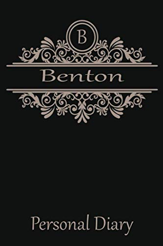 - B Benton Personal Diary: Cute Initial Monogram Letter Blank Lined Paper Personalized Notebook For Writing & Note Taking Composition Journal