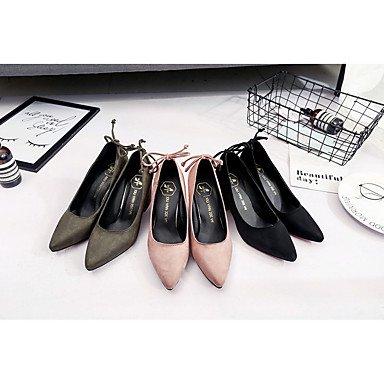 Le donne eleganti sandali Sexy Donna Stivali Autunno Inverno Comfort PU Abito casual Chunky Heel Zipper Lace-up marrone nero Borgogna , nero , noi6.5-7 / EU37 / uk4,5-5 / CN37