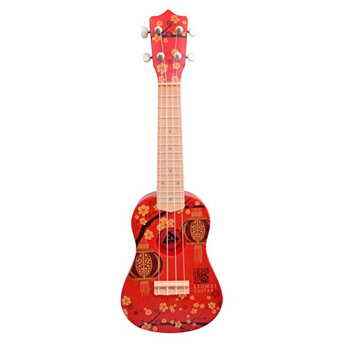 ADSRO Plastic Children's Guitar Instrument Traditional Soprano Ukulele 4 String Music Plastic Toys Early Education Exquisite Toy Gifts by ADSRO