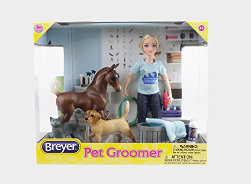 Breyer 62029 Classics Pet Groomer Doll & Animals Set , Multi