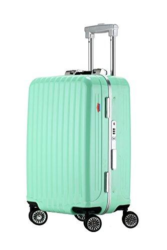 Ambassador Luggage Designer 19 Inch Carry On Luggage Aluminum Frame Spinner Suitcase Aquamarine by Ambassador