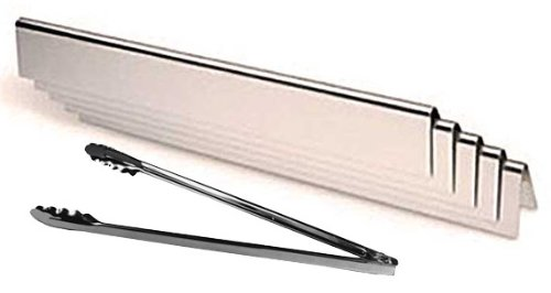 Aftermarket Flavorizer Bars 7535, (16 Ga.) with Stainless BBQ Tongs