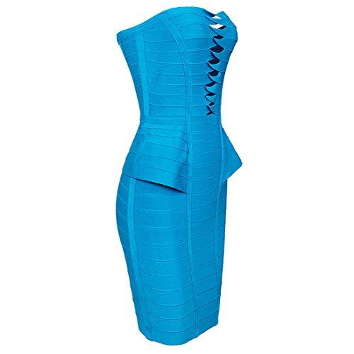 HLBCBG sin tirantes de la mujer rayón vendaje Bodycon vestido 2078