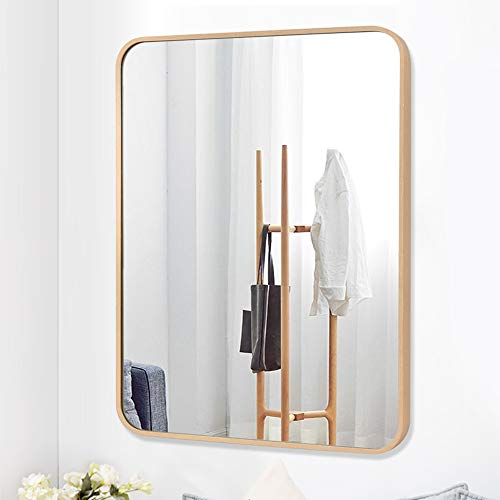 PexFix Wall Mounted Bathroom Mirror, Stylish Round Corner Design Rectangle Mirror Simple -