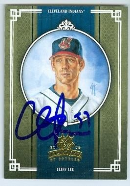 Cliff Lee autographed baseball card (Cleveland Indians) 2005 Donruss No.341 Diamond Kings
